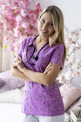 zuz bluz Barankowe love Odzież medyczna, bluzy, czepki